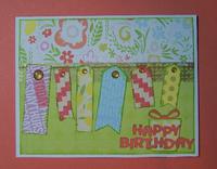 Happy Birthday tags card