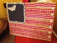 Burlap Americana Flag