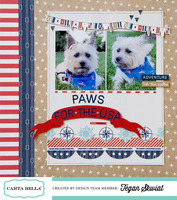 Paws for the USA layout **Carta Bella**