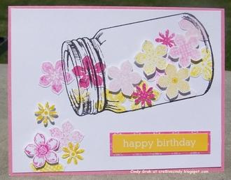 Happy Birthday mason jar