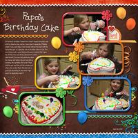 Papa's Birthday Cake
