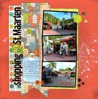 Shopping @ St. Maarten (Scrapbooking 3 Challenge)