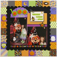 A Doodlebug Ghouls & Goodies Layout by Mendi Yoshikawa