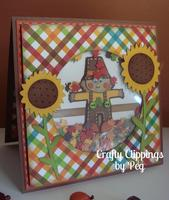 Fall Scarecrow Shaker Card