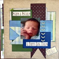 snips and snails (Sept. 2014 Supply/Scraplift w/a Twist Challenges)