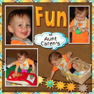 Fun at Aunt Caren's