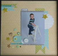 Simple Stories 2nd Birthday Layout