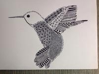 Zentangle Art - Hummingbird