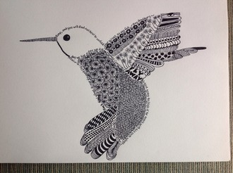 Zentangle Art - Hummingbird
