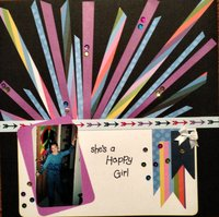happy girl (Oct. 2014 Scrappy Bag of Tricks Challenge)