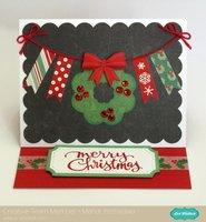 An Echo Park Christmas Cheer Easel Card by Mendi Yoshikawa