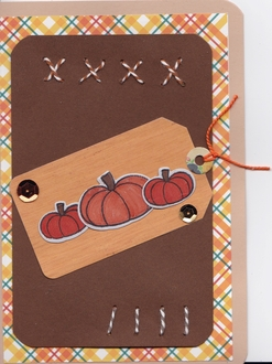 pumpkin patch tag card