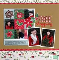 A Pebbles Home For Christmas Layout by Mendi Yoshikawa
