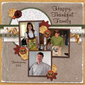 Happy, Thankful Family
