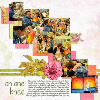 on one knee