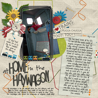 at home in the haywagon