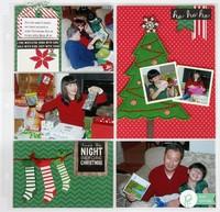 Pebbles Home For Christmas Pocket Page by Mendi Yoshikawa