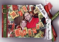 Christmas 2005 Accordion Tag Book-As seen in Stamping, Stationary & Scrapbooking