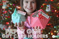Paper Gem Gift Card Holders *Pebbles*
