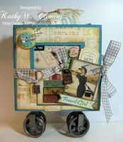 Travel Girl Altered Box