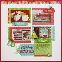 Technique Tuesday & Doodlebug Christmas Layout by Mendi Yoshikawa