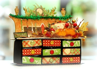 Christmas Matchbox Drawers
