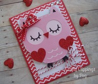 Owl Valentines Day Card