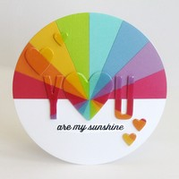You Are My Sunshine Rainbow Card by Mendi Yoshikawa