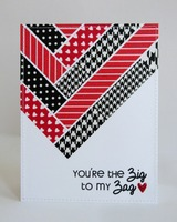 Washi Tape Valentine's Day Card by Mendi Yoshikawa