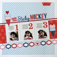 My Creative Scrapbook Sticky Mickey Layout by Mendi Yoshikawa