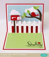 Lori Whitlock Mailbox Pop-up Card by Mendi Yoshikawa
