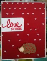 Hedgehog Valentine's Day Card