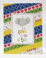 Bella Blvd. Tiny Tots Elephant Card by Mendi Yoshikawa