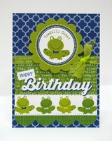 Bella Blvd Tiny Tots Frog Birthday Card by Mendi Yoshikawa