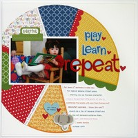 Bella Blvd Tiny Tots Pie Chart Layout by Mendi Yoshikawa