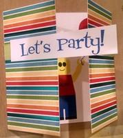 Lego man birthday card