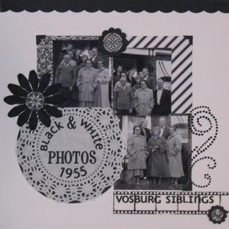 Black & White Photos: Vosburg Siblings