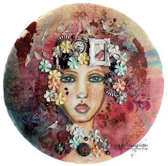 Mixed Media Portrait Canvas
