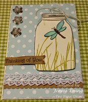 Thinking of You Card by Jenny Ewing