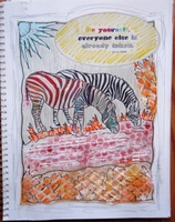 Be Yourself art jrnl page