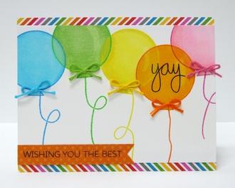 Technique Tuesday Balloon Birthday Card by Mendi Yoshikawa