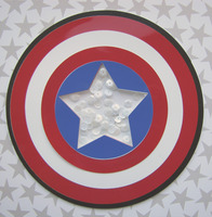 Captain America Shaker Shield shaped card