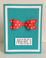 Merci Bow Card