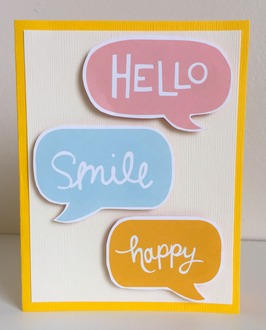 Hello Smile Happy Card