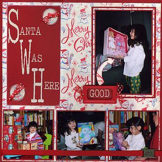 Santa Was Here (Kathy's Challenge)