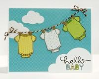 Doodlebug Snips & Snails Baby Boy Card by Mendi Yoshikawa