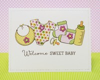 Technique Tuesday Bundle of Joy Baby Card by Mendi Yoshikawa