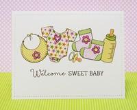 Technique Tuesday Bundle of Joy Baby Card by Mendi Yoshikawa
