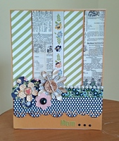 Mother's Day card for May Pinterest challenge