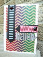 colorful chevron card